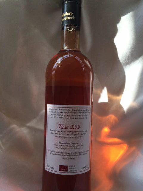 Rosé wijn 2014 - achterzijde